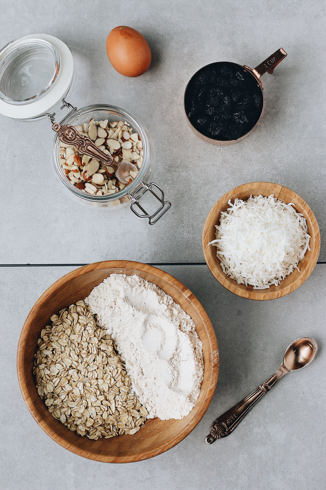 granola-biscotti-prep-oatmeal-shredded-coconut-raisins