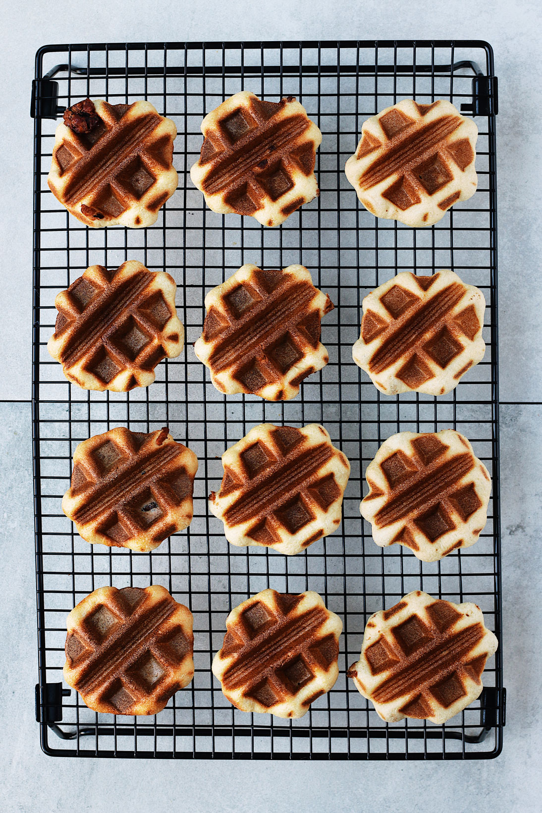 Mini-Overnight-Yeasted-Waffles-with-Red-Bean-Filling-flatlay