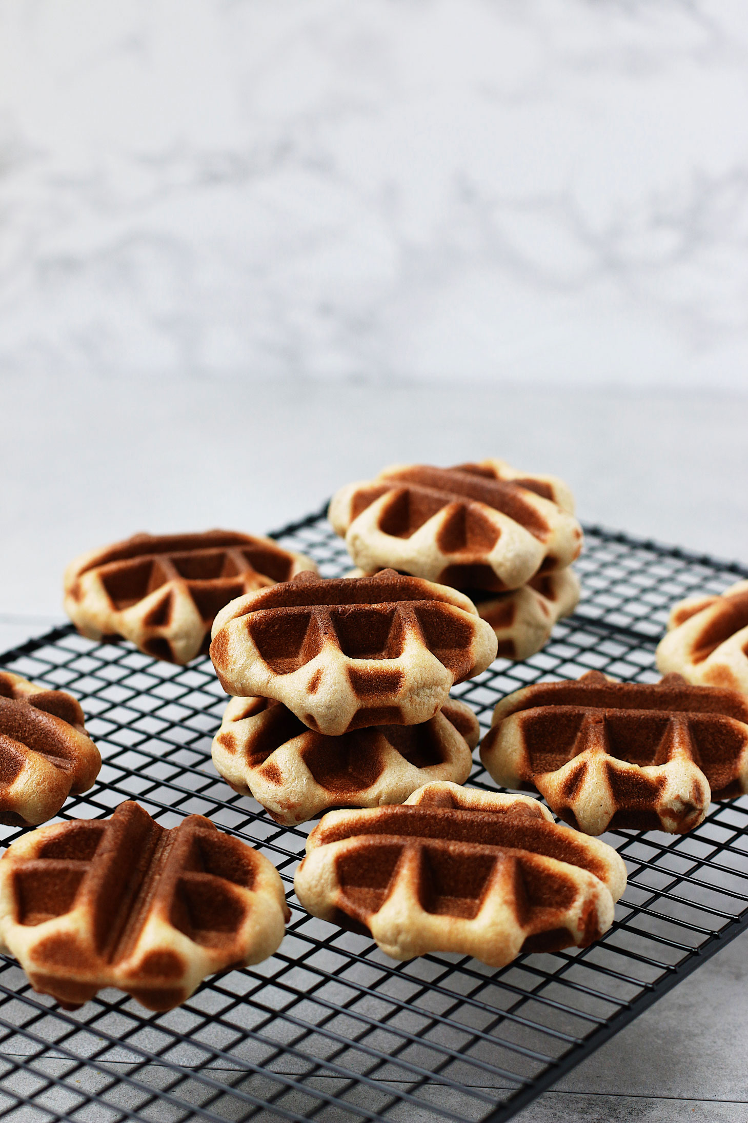 Mini-Overnight-Yeasted-Waffles-with-Red-Bean-Filling-on-cooling-rack