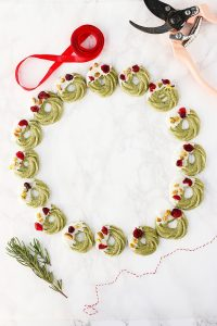 Herbakinglab-Matcha-Christmas-Wreath-Shortbread